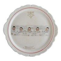 Dionne Quintuplets Souvenir Plate