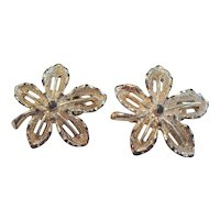 Sarah Coventry Leaf-Shaped Clip-On Earrings