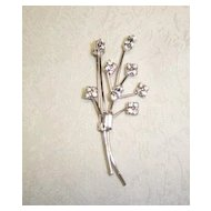 Beautiful Rhinestone Branch Shaped Pin/Brooch