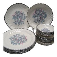 21 Pcs. Royal China Belvidere Platinum
