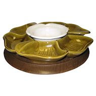 McCoy Pottery Lazy Susan w/Box