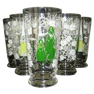 Set of 6 Libbey Americana - New England Traditions - Iced Tea Glasses