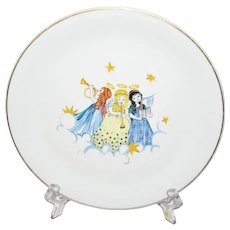 Rosenthal Hand Painted Plate With Three Angels