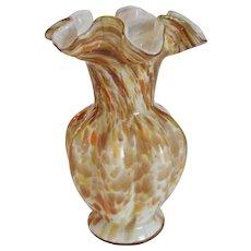 """Fenton Autumn Vasa Murrhina 8"""" Vase"""