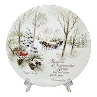 Robert Laessig Winterscene Series Commemorative Edition Christmas Plate