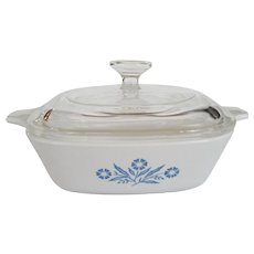 Corning Cornflower Blue Petite Covered Dish - 1 3/4 Cup - Glass Lid