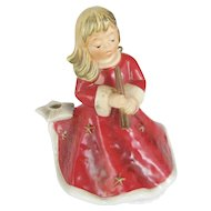 Goebel Germany Red Christmas Angel Music Box - Silent Night
