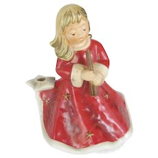 Goebel Germany Red Christmas Angel Music Box - Silent Night