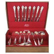 "Reed & Barton 55 Pc. Set ""Dresden Rose"" Silverplate Flatware"