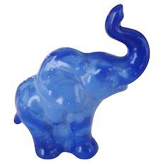 Fenton Periwinkle Blue Slag Elephant