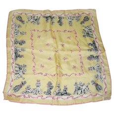 Occupied Japan Pure Silk Scarf