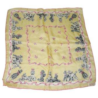 Occupied Japan Pure Silk Scarf