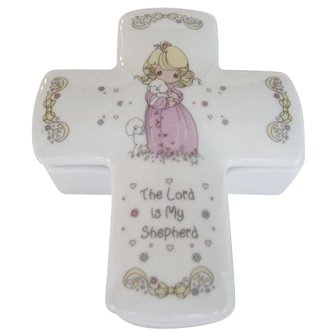 """Precious Moments """"The Lord Is My Shepherd"""" Trinket Box"""