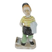 Occupied Japan Newsboy Figurine