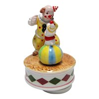 Ebeling & Reuss 1984 Clown & Dog Music Box