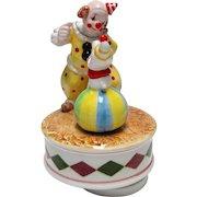 Ebeling & Reuss 1984 Clown & Dog Music Box