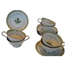 """Noritake """"Greenbay"""" Cups and Saucers - 5 Available"""