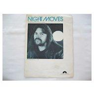 Bob Seger Sheet Music - Night Moves - 1976