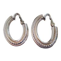 Pair of Bergere Silver-tone Clip Earrings