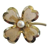 Coro Four Leaf Clover Pin