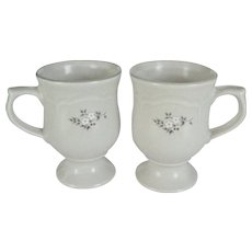"Pair of Pfaltzgraff ""Heirloom"" Pedestal Mugs"