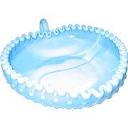 Fenton Blue Marble Hobnail Heart-Shaped Candy/Relish Dish