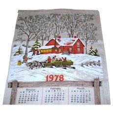 1978 Calendar Towel - Hayride Scene