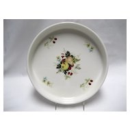 Royal Kent Staffordshire Quiche Dish - Fruit Pattern
