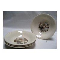 Set of 4 Edwin Knowles Winter Scenes Fruit/Dessert Bowls