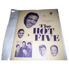 The Hot Five National Tour Program - Winter 1959-1960 - Autographed
