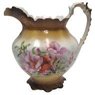 Smith Phillips Semi Porcelain Pitcher - Floral Design