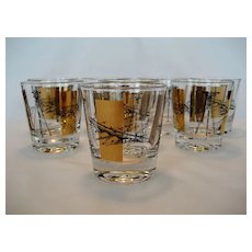 Set of 8 Bar Glasses - Engineering or Survey Theme - Red Tag Sale Item