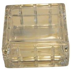 Avon Small Square Crystal  Lidded Dish