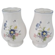 "Nikko ""Blue Peony"" Salt and Pepper Shakers"