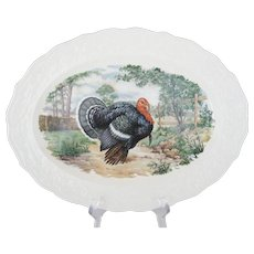 "13 3/4"" Colorful Turkey Platter"