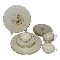 Lenox Starlight - Gold Trim - 17 Pcs.