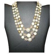 Lovely Beaded 3-Strand Necklace - Japan