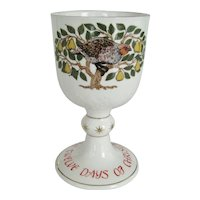 """Royal Doulton """"First Day Of Christmas"""" Goblet"""