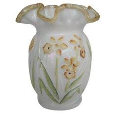 Fenton For QVC Daffodil Vase