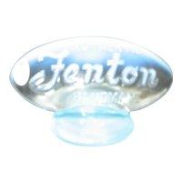 Fenton Blue Opalescent Logo Sign - FAGCA 2005
