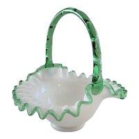 Fenton Emerald Crest Basket