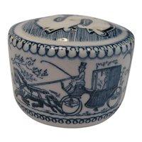 Royal Blue Currier & Ives Single Salt Shaker