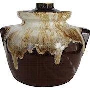 Robinson Ransbottom Brown Drip Bean Pot