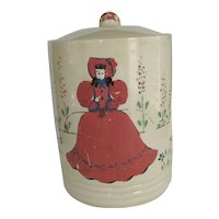 Vintage Cookie Jar/Canister - Cold Paint Decoration