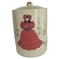 Vintage Cookie Jar/Canister - Cold Paint Decoration
