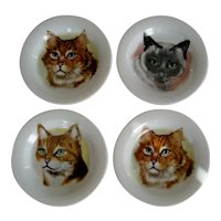 Set of 4 Cat Coasters - Japan