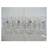 Set of 4 Indy 500 Souvenir Glasses - 1963 and 1966