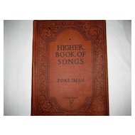 Foresman Higher Book of Songs - 1928