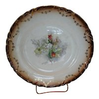 Saxon China Floral Plate