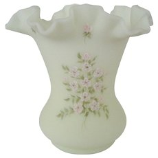 Fenton Pink Blossom Vase
